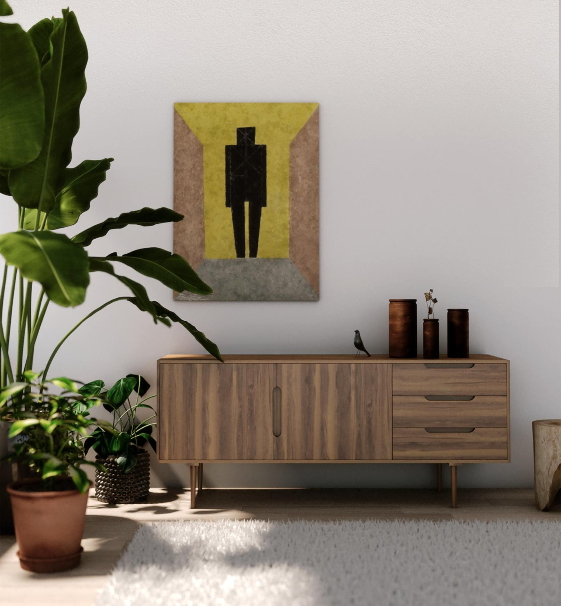 brown-wooden-sideboard